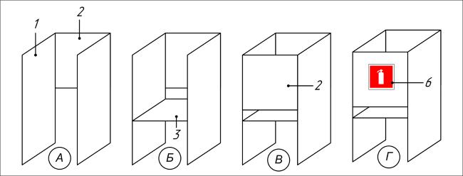 Схема сборки подставки под огнетушитель П-20