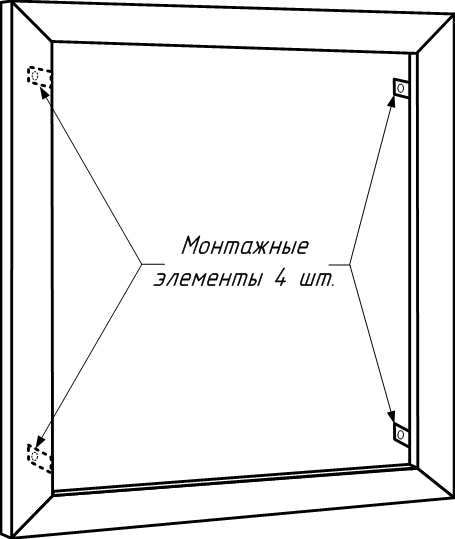 Рамка пожарного шкафа