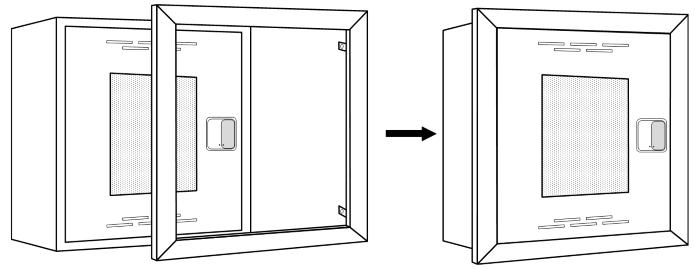 Схема оборудования встраиваемого пожарного шкафа